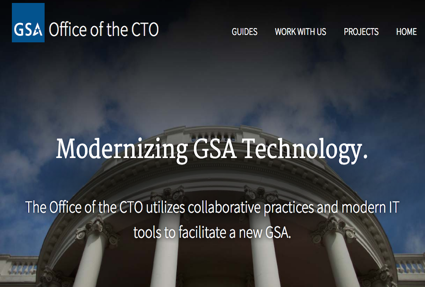 screenshot of the GSA CTO website